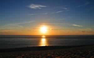 Voir le coucher du soleil du haut de la dune du Pilat