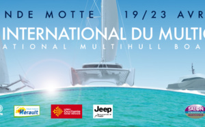Salon International du multicoque : 2 pros du catamaran du Bassin d' Arcachon présents