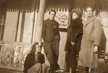 Gala, Salvador Dalí, Leonor Fini and  André Pieyre de Mandiargues
