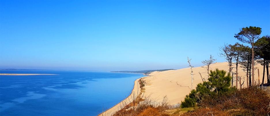 la dune du Pilat par son sud