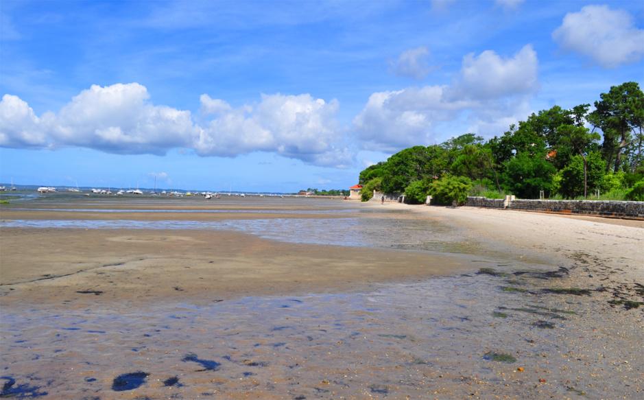 Longue plage à Taussat