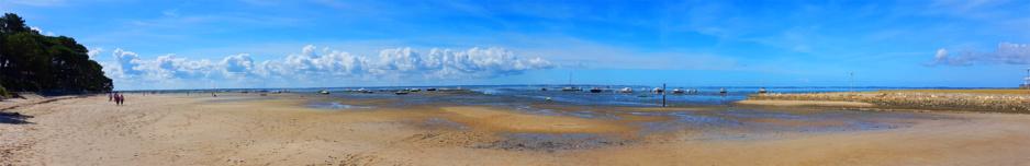 Panoramique à la plage de Taussat