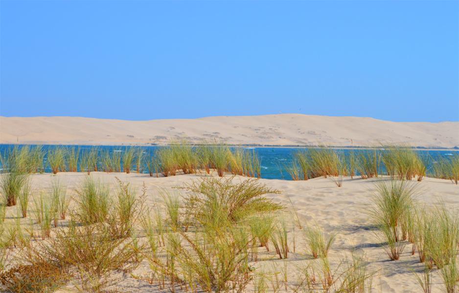 Pointe, passe et dune