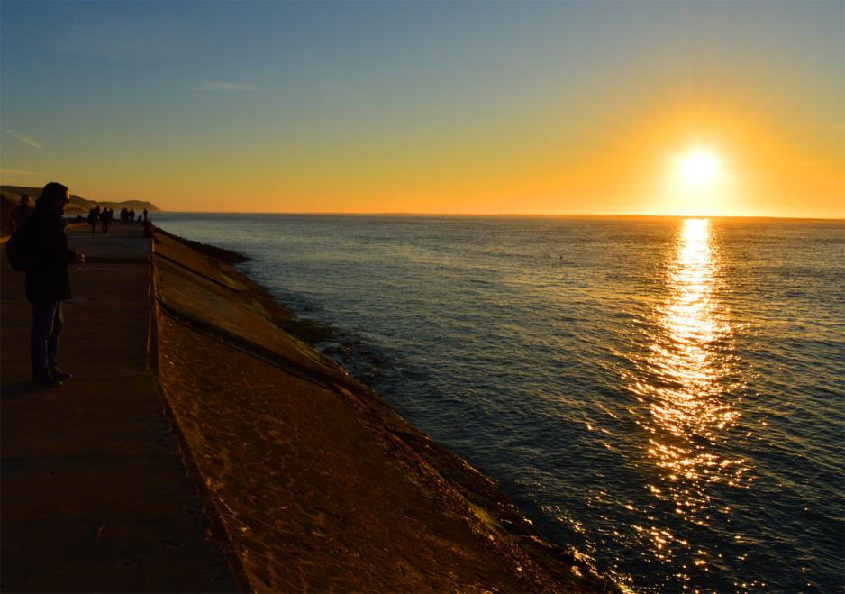 Coucher de soleil depuis la Corniche