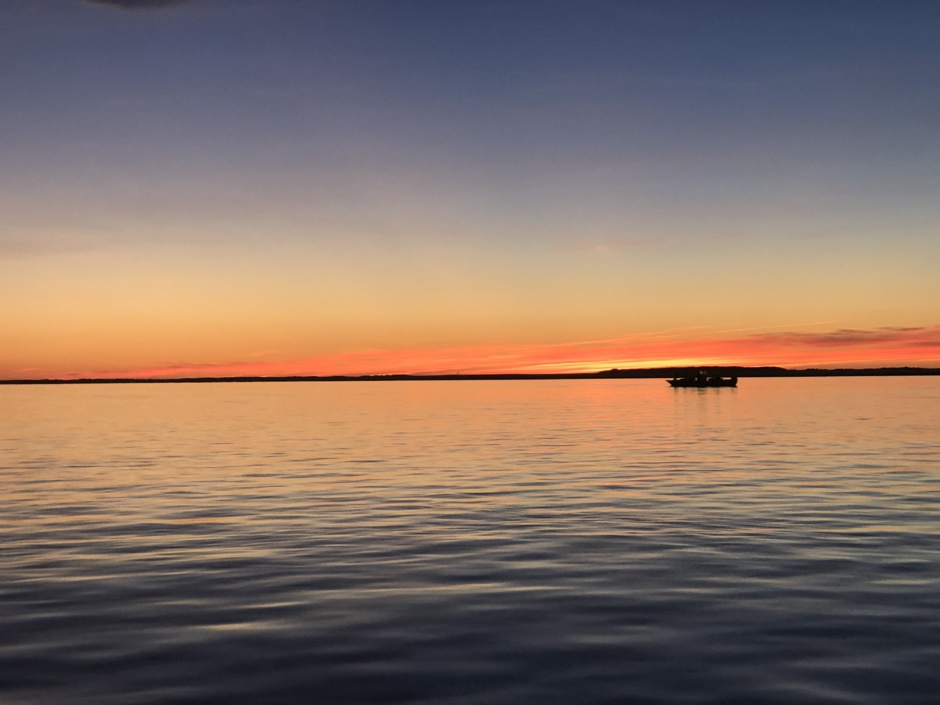 Soleil couché sur le bassin d' Arcachon