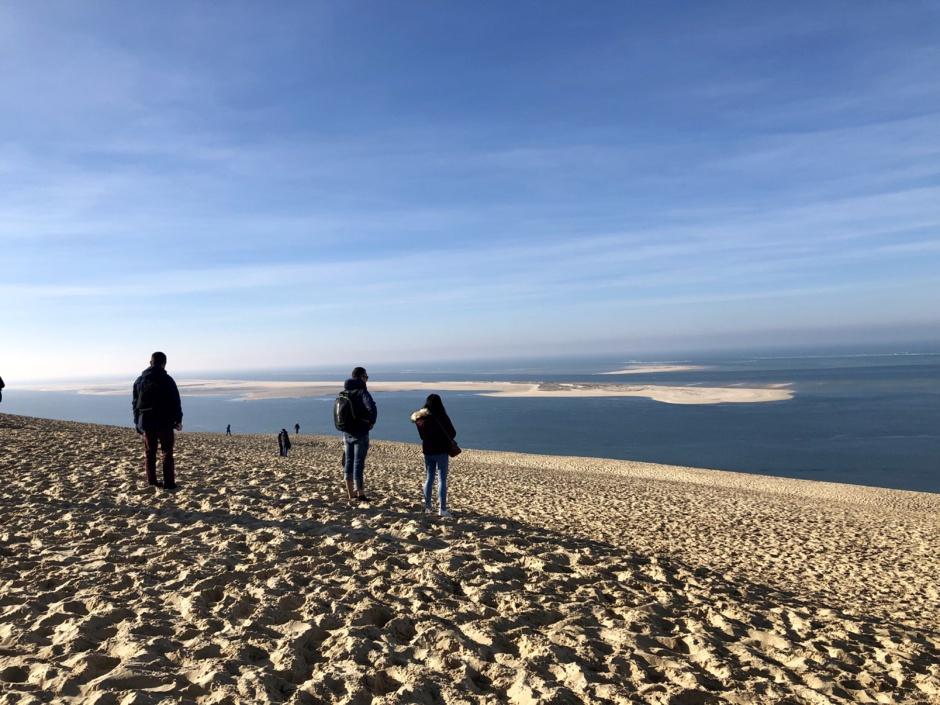 Vue de la Dune du Pilat vers Le banc d'Arguin