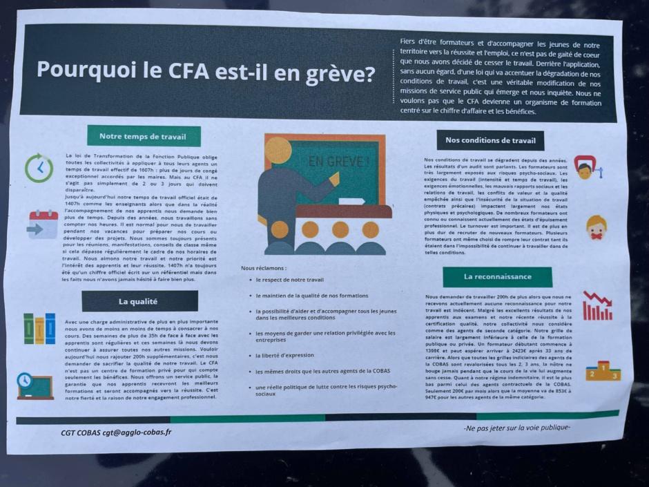 La grève des formateurs CFA de la Teste pose la question de l'avenir éducatif de nos enfants