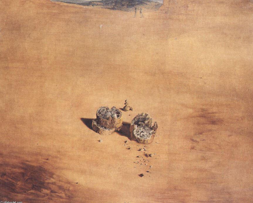 2 morceaux de pains exprimant le sentiment de l'amour - DALI