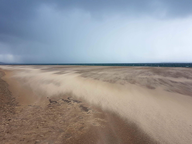 plage d'arcachon sous tempête