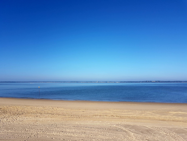 Vue depuis la plage d' Arcachon