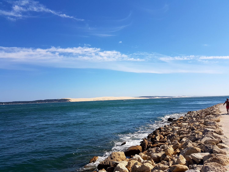 La dune du Pilat et entrée du bassin d' Arcachon