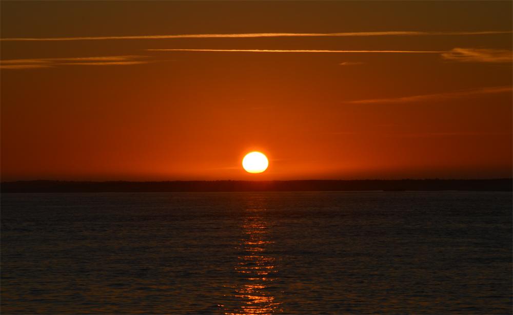 Coucher de soleil sur l 39 oc an atlantique du haut de la dune - L heure du coucher du soleil aujourd hui ...