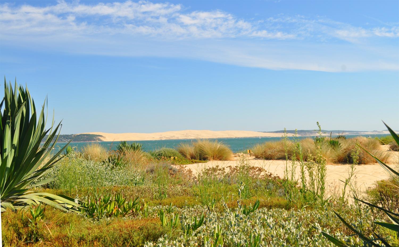 La dune du Pilat de l'autre côté