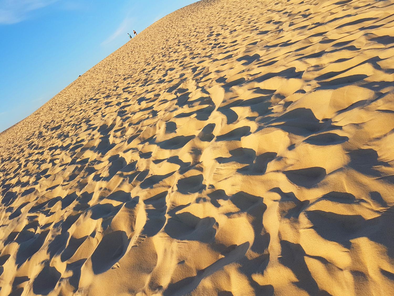 Sable sur une pente de la dune du Pilat