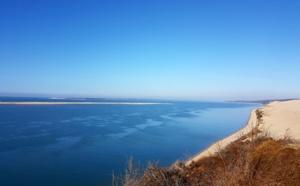 Balade sur la grande dune du Pilat pour voir ses bleus d'hiver