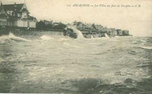 Images des plus grosses tempêtes sur Arcachon