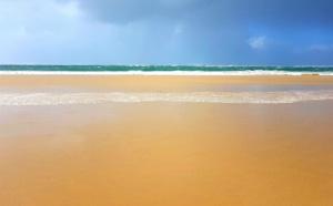 La plage de la lagune et ses couleurs caribéennes (même en hiver)