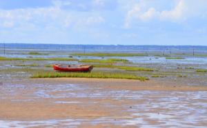 Taussat et vue sur marée basse