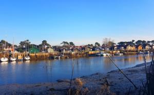 Vue depuis le Port de la Hume à Gujan-Mestras