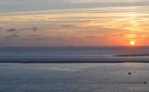 Vidéo d'une dune de Pilat et coucher de soleil