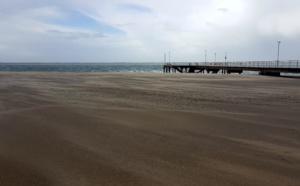 Pas le moment d'aller à la plage à Arcachon