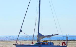 Bateau sur quille sur le Bassin d'Arcachon