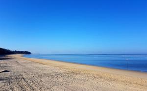 Point de vue sur le plage Pereire le matin