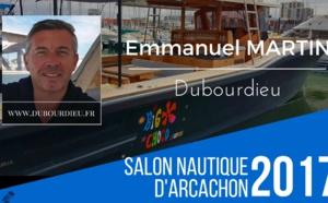 """Emmanuel Martin est venu """"montrer le savoir-faire du chantier Dubourdieu avec 3 bateaux à flots"""""""