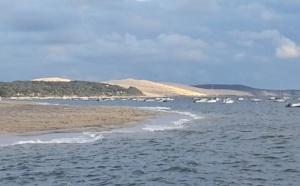 Vue du Moulleau lorsque le temps se gâte sur le Bassin d'Arcachon